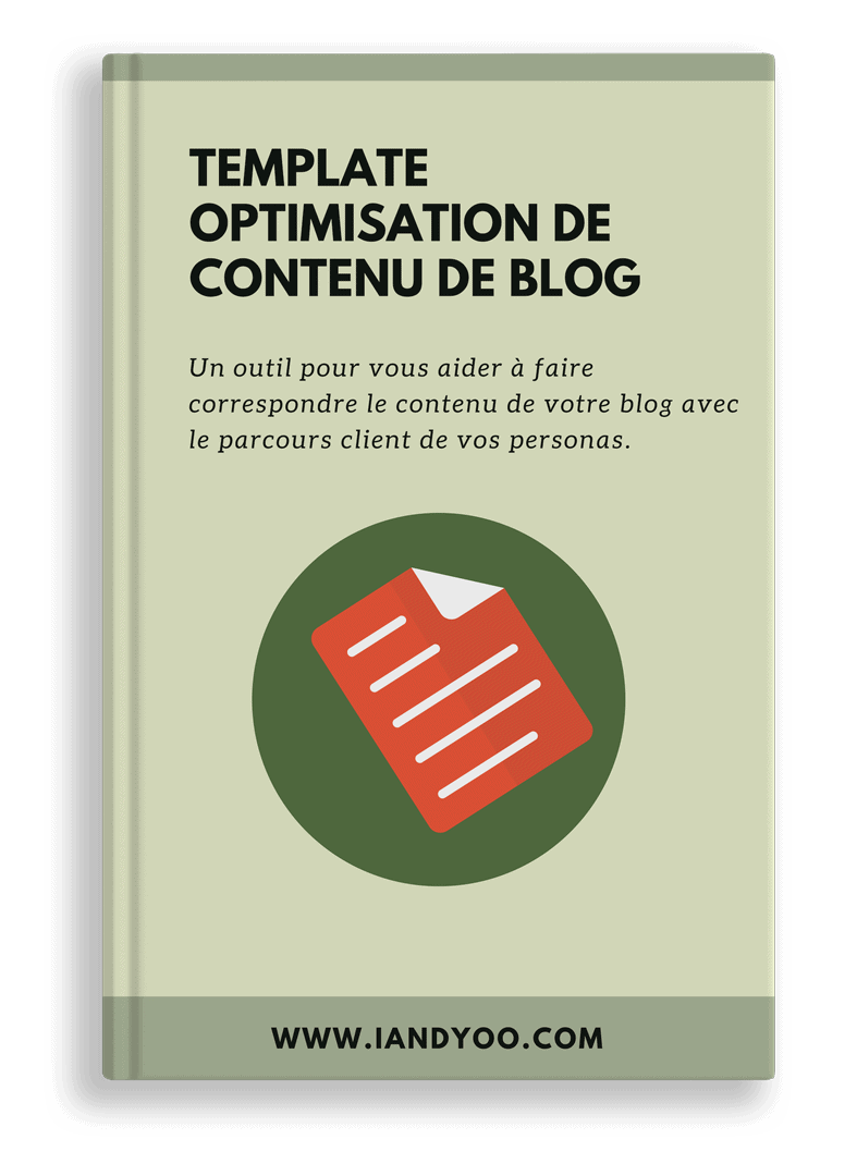 Cover Template analyse de contenu de blog