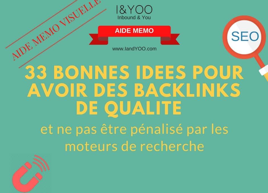 33 idées pour avoir des backlinks de qualité
