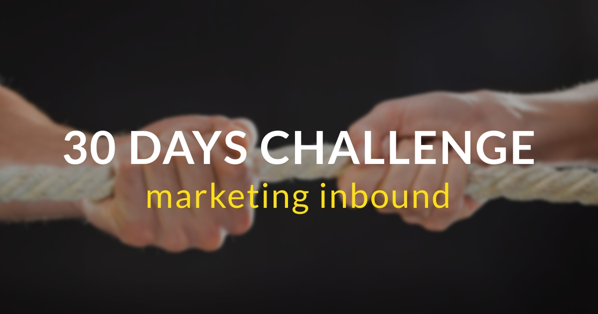 30 days challenge marketing inbound