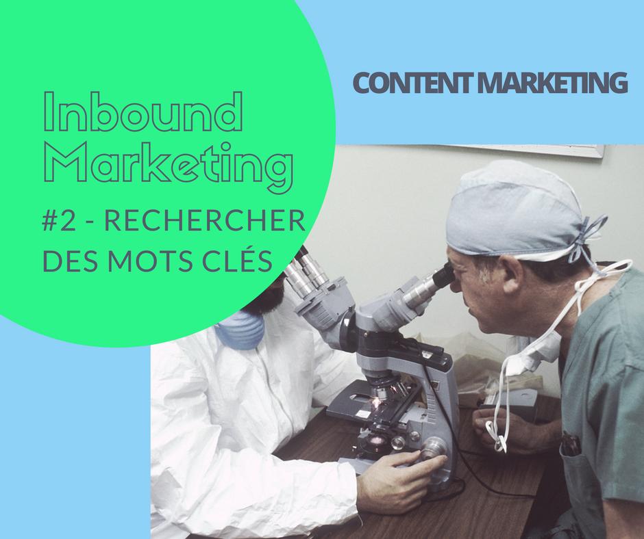 #2 Content marketing : la recherche de mots clés