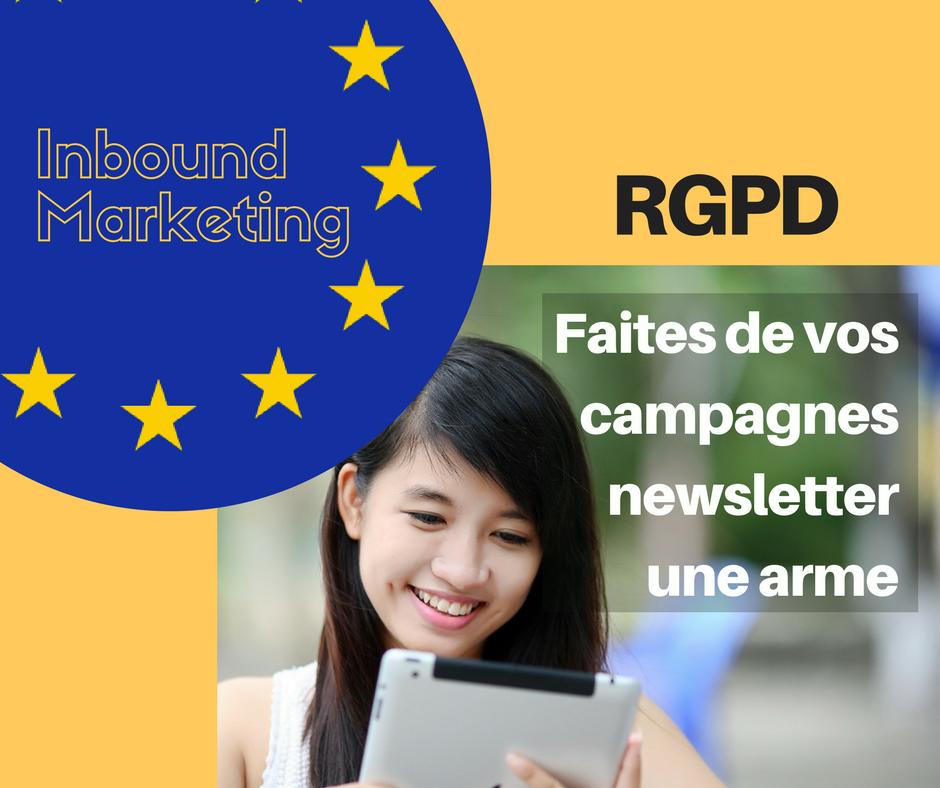 Faites de vos campagnes newsletter une arme pour le RGPD