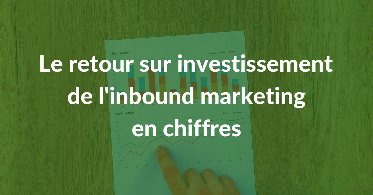 Le retour sur investissement de l'inbound marketing #2 : ROI de l'inbound marketing en chiffres