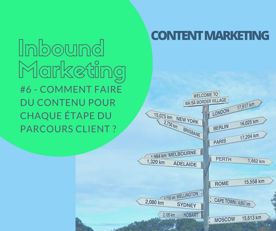 #6 Content marketing: quel contenu pour le parcours client?