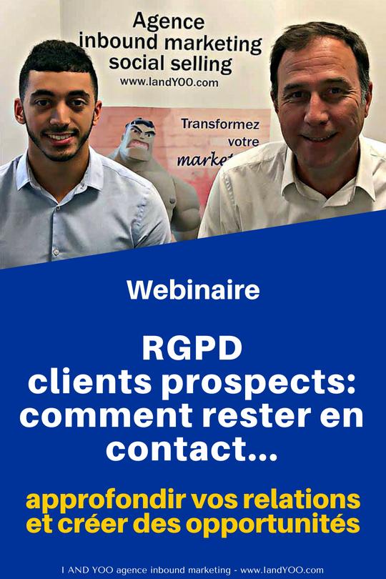 Webinaire RGPD et prospection
