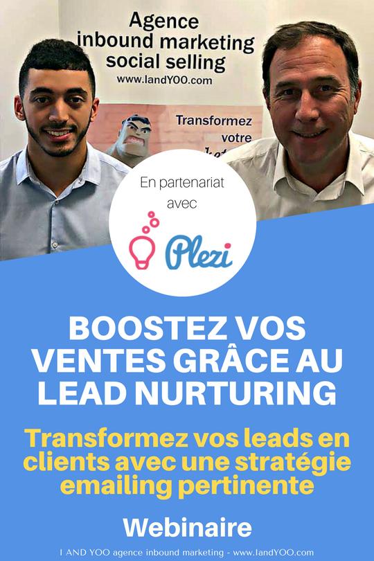 Webinaire boostez vos ventes avec le lead nurturing