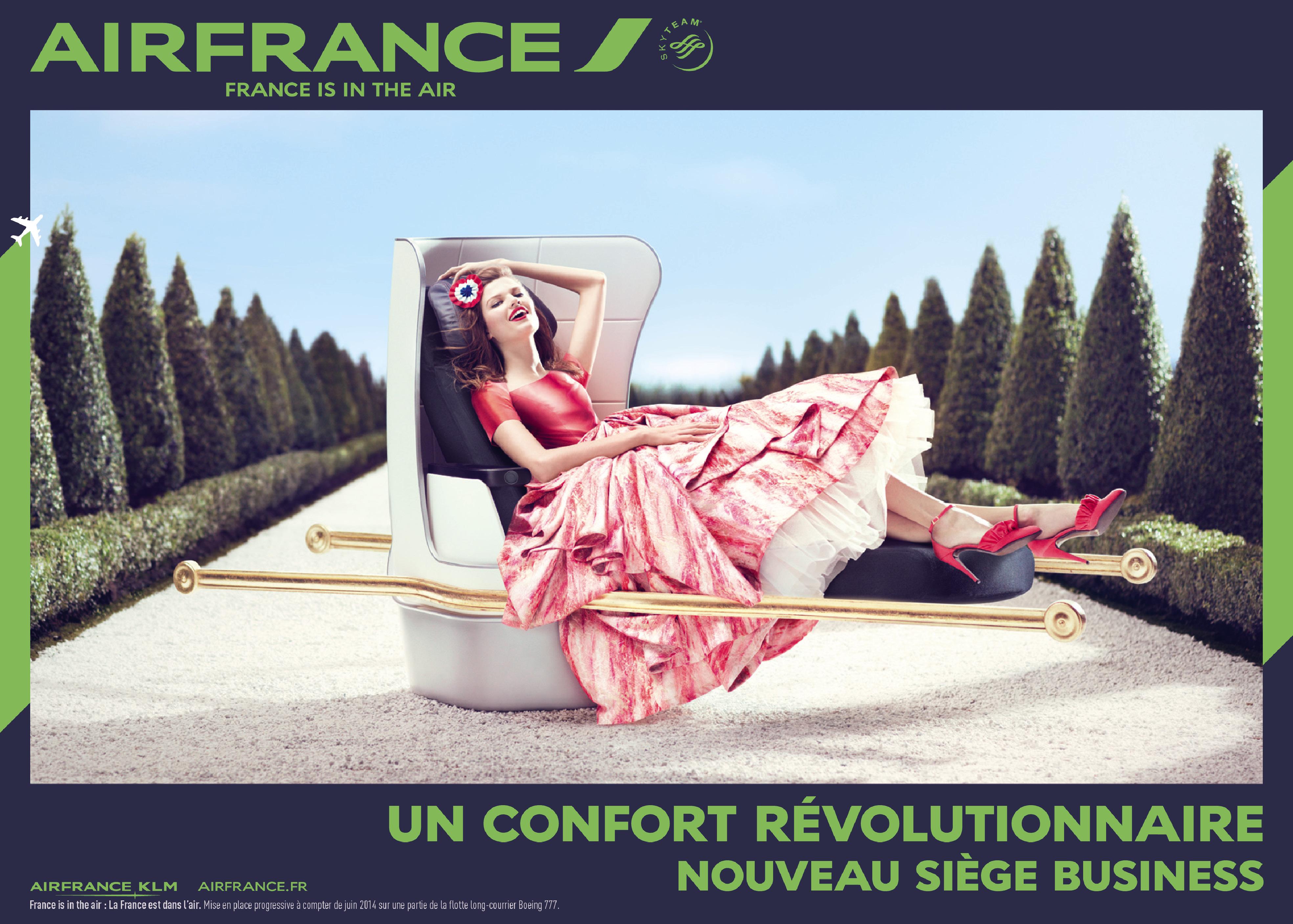 Annonce publicitaire AIR FRANCE