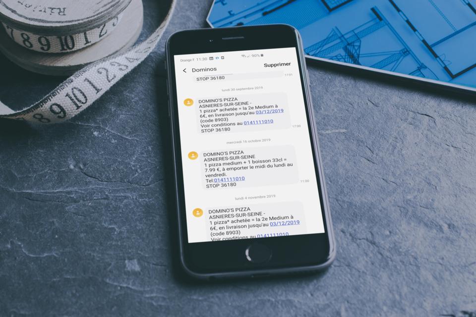 publicité par SMS